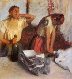 Laundry Girls Ironing - Edgar Degas - 1884