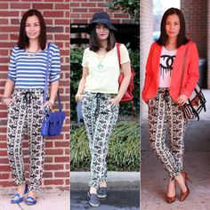 Sears #ThisisStyle Colorful Spring Fashion Challenge -- 3 easy ways to pull off more intimidating trends! #shop