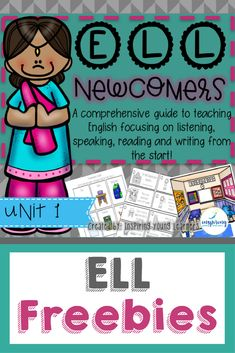 Free quality lesson plans for elementary ELL students, teachers and newcomers Bilingual Education, Early Education, Ell Strategies, Ell Students, Esl Lessons, Teaching First Grade, English Language Learners, Teaching English, Lesson Plans