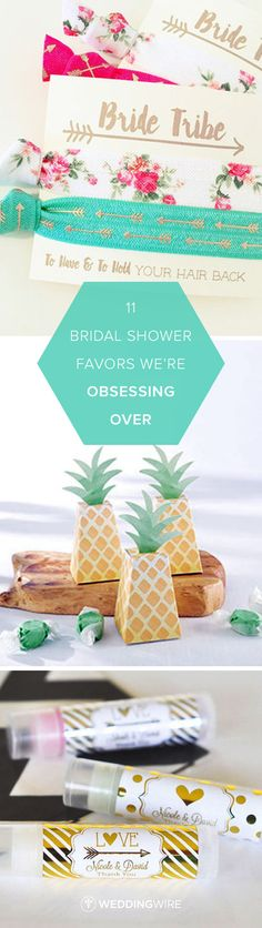 11 Bridal Shower Favors We're Obsessing Over - Check out 11 fun and festive favors perfect for a bridal shower on @weddingwire! {Courtesy of Etsy}