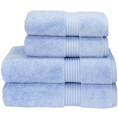 Supreme Hygro US Bath Towel Color: Sky (€29) ❤ liked on Polyvore featuring home, bed & bath and bath
