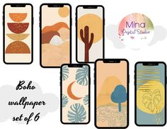 Boho phone wallpaper , minimalistic phone wallpaper , iPhone