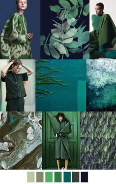 GREEN OASIS F/W 2017 trend in fashion color palette. For more follow www.pinterest.com/ninayay and stay positively #inspired