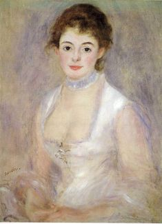 MADAME HENRIOT (1876) by Auguste Renoir | Impressionism | Oil on canvas | National Gallery of Art, Washingon, DC, USA