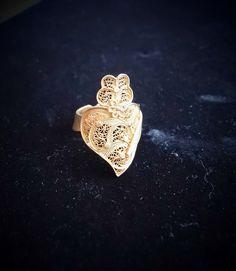 Coeur en filigrane Portugal du Minho VIANA Ring par Atrio sur Etsy