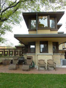 Emil Bach Residence. Chicago, Illinois. 1915. Prairie Style. Frank Lloyd Wright.(Addition)