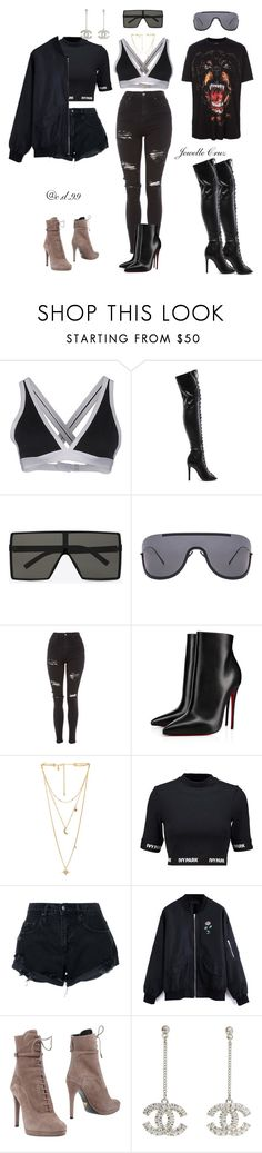 """Unpretty Rapstar outfits inspired- c.d.99"" by cutiedonut99 ❤ liked on Polyvore featuring Givenchy, T By Alexander Wang, Schutz, Yves Saint Laurent, Acne Studios, Topshop, Christian Louboutin, Rebecca Minkoff, Ivy Park and Nobody Denim"