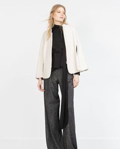 Image 1 of TEXTURED-WEAVE CAPE from Zara