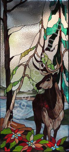 Stained glass window is made in the studio of Olga Minaeva, Russia, Krasnodar