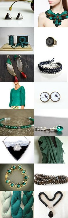 Emerald and Onyx  by D.K. on Etsy--Pinned with TreasuryPin.com