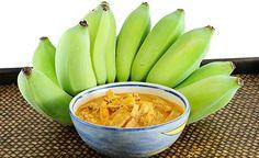 Ayurvedisches Bananen-Curry, mit Kurkuma, Kardamom, Koriander, wenig Krüzkümmi und Ingwer
