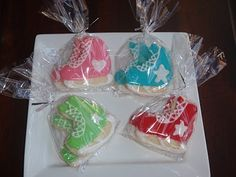 Ice Skate cookies instead of cake?? Use as party favor perhaps