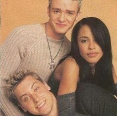 Aaliyah, Justin Timberlake, and Lance Bass Justin Timberlake Nsync, Aaliyah Haughton, Star Wars, Celebs, Celebrities, Her Music, One In A Million, American Singers, Friends In Love