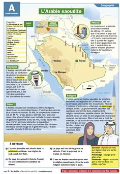 Fiche exposés : L'Arabie saoudite French Government, French Teacher, Teaching French, Mon Quotidien, French School, French Class, Home Schooling, Learning Process, Fun Learning