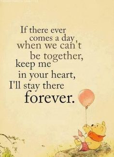 Missing so many people tonight. But Winnie the Pooh always helps.