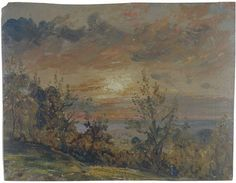 Sketch at Hampstead: Evening, John Constable, 1820
