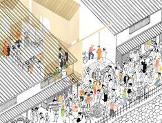 tonoma architects: ceramics market, osaka, japan