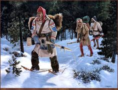Coureur de bois, french woods runners. Fur traders.