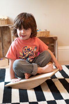 Bascule Balance Board - Conseil - jouet sensoriel - intégration sensorielle Conseil - Gross Motor - jouet bois - Childs Noël Noël cadeau - cadeau