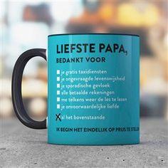 Originele cadeaus voor vaderdag - Feestprints  mok voor de liefste papa