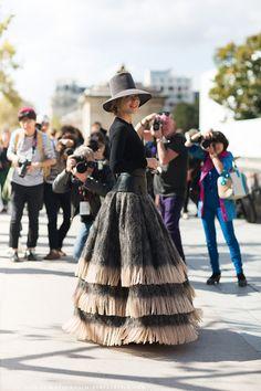 Ulyana Sergeenko Call me crazy - but I want that hat SO bad.