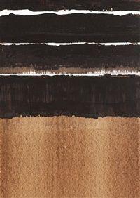 Brou de noix 1999-13 by Pierre Soulages