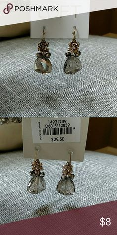 NWT Ann Taylor Loft earrings Soft amber color pendant earrings catch the light beautifully. Purchased for a special occasion...then changed my dress style. Never worn. Ann Taylor Loft Jewelry