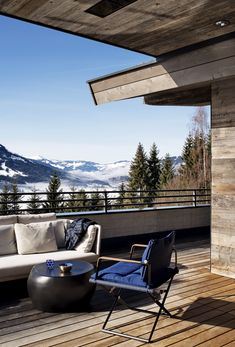 balcony with a view, chalet style, interior design, architecture, mountainview