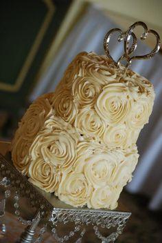 Wedding Cake with Roses!