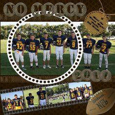 football scrapbook page
