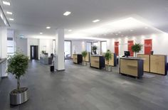 Slate flooring in a commercial environment