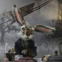 March Hare Alice In Wonderland Tim Burton March hare ipad wallpaper 1024