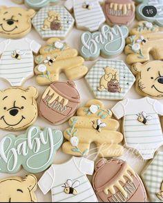 Baby Cookies, Baby Shower Cookies, Baby Shower Fun, Cute Cookies, Royal Icing Cookies, Baby Shower Themes, Sugar Cookies, Shower Ideas, Baby Birthday Cakes