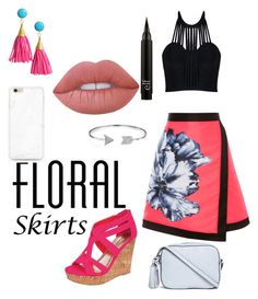 """""""floral skirt #2"""" by talfashion on Polyvore featuring Posh Girl, Tory Burch, Bling Jewelry, Lime Crime and Floralskirts"""