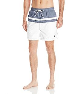 Introducing Nautica Mens Quick Dry Striped Color Block Swim Trunk Sail White XXLarge. Get Your Ladies Products Here and follow us for more updates!