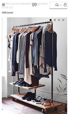 Urban outfitters clothing rack