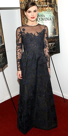 "Wearing Valentino Haute Couture at a screening of ""Anna Karenina"" in New York City, November, 2012"