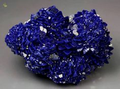 Azurite from Oumjrane Mine, Alnif, Tarhbalt, Er Rachidia Province, Meknès-Tafilalet Region, Morocco