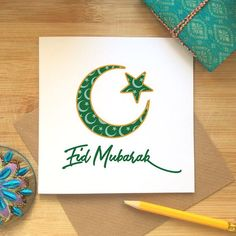 Eid 2018 is thumping in the entryway. I seek you are caring for Eid Mubarak 2018 Image for wish Eid Festival. Here you can get the magnificent gathering of Eid Mubarak 2018 HD Image free. Ramadan Cards, Mubarak Ramadan, Eid Mubarak Wishes, Adha Mubarak, Eid Hampers, Card Making For Kids, Eid Images, Eid Festival, Eid Crafts