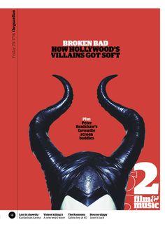 Guardian g2 cover: Villains. #editorialdesign #newspaperdesign #graphicdesign #design #theguardian