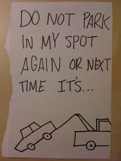 The 20 Best Passive Aggressive Parking Notes