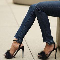 9339460a8b5 Black faux fur heels by Tony Bianco  losangeles  shoes  heels Faux Fur