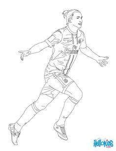 Zlatan Ibrahimovitch coloring page