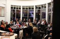 Nearly 40 alumni networked at the Women's Alumni Social hosted by Amy Rees Anderson in her new office REES Capital. Guests were able to ask questions and share insights about being successful in business.