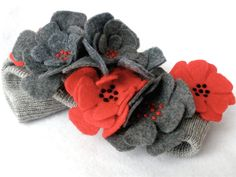 Knit Headband Ear Warmer Gray