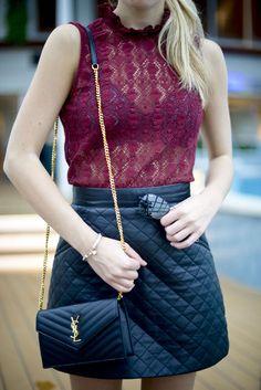 Bag review: YSL Saint Laurent wallet on chain \u0026amp; Cassandre purse ...