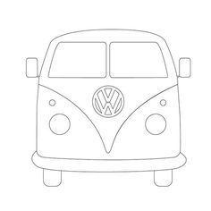 Camper Outline <b>campers</b>, vw <b>camper</b> and <b>camper</b> van on pinterest