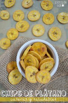 Cómo hacer chips caseras de plátano macho www.pizcadesabor.com