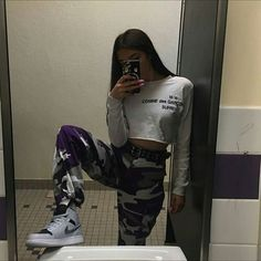 Grunge Outfits, Cute Swag Outfits, Teen Fashion Outfits, Trendy Outfits, Aesthetic Fashion, Aesthetic Clothes, Pantalon Cargo, Teenager Outfits, Grunge Style