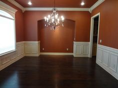 Wainscoting in dining room.